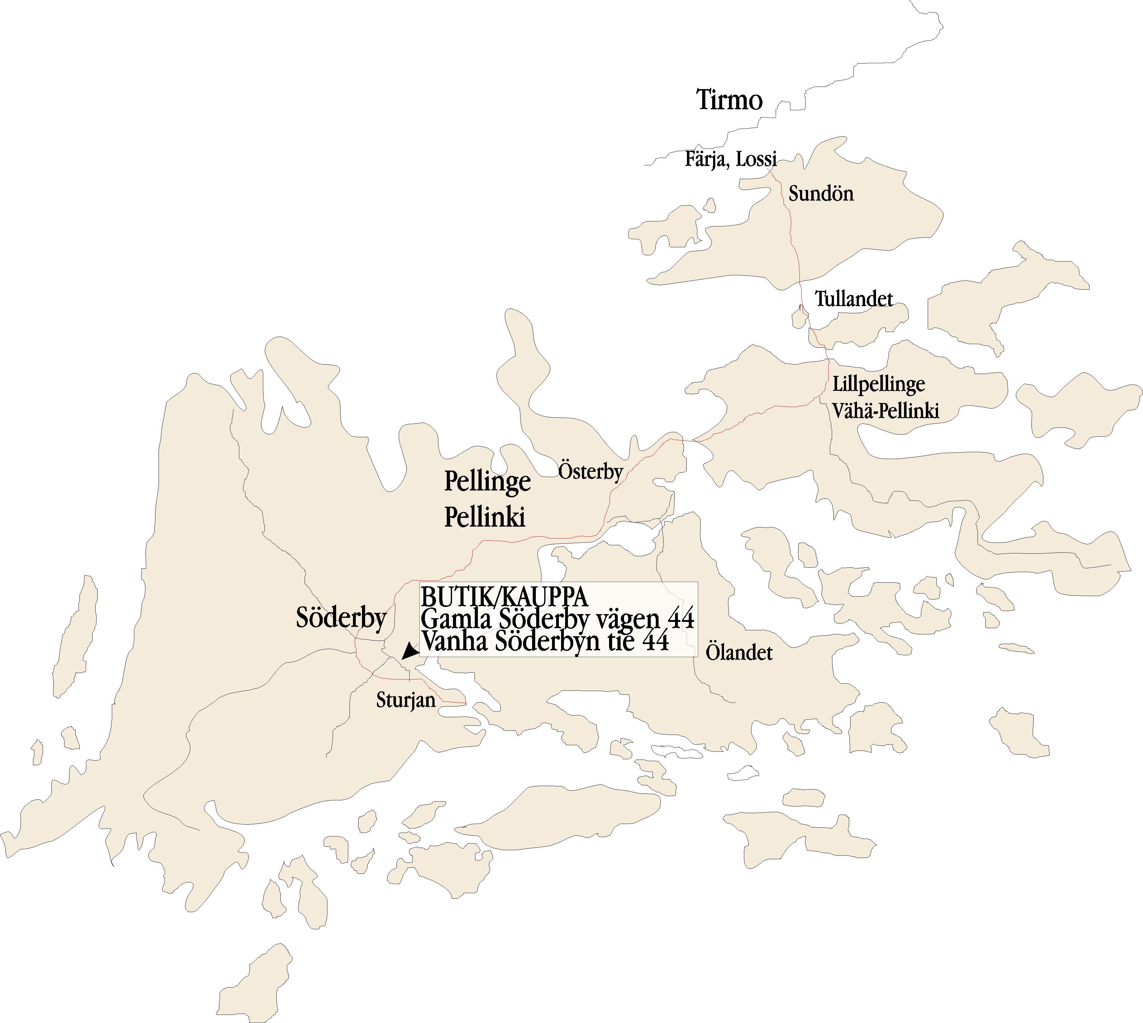 Karta Kartta Soderby Boden